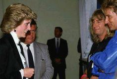Diana and Rod Stewart