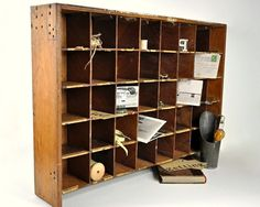 Vintage Large Pigeon Hole Cubby--one of these have been on my wish list for years.