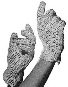 Crochet Patterns Gloves Crocheted Gloves crochet originally published in Easy to Make Hats, Spool Cotton… Crochet Mittens Pattern, Vintage Crochet Patterns, Crochet Lace Edging, Crochet Coat, Vintage Knitting, Crochet For Kids, Free Crochet, Easy Crochet, Wrist Warmers