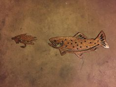 This metal artwork makes a great gift for fishermen.