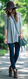 Lush Long Sleeve Swing Tee | Joe's Jeans Curvy Skinny Jeans | Vince Camuto 'Hillsy' Almond Toe Bootie | Rebecca Minkoff 'Mini Fringe Moto' Autographed Bucket Bag
