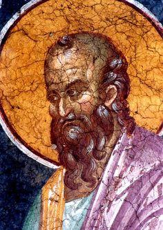 Святой Пророк Елисей. Фреска монастыря Грачаница, Косово, Сербия. Около 1320 года. Orthodox Icons, Painting, Painting Art, Paintings, Painted Canvas, Drawings