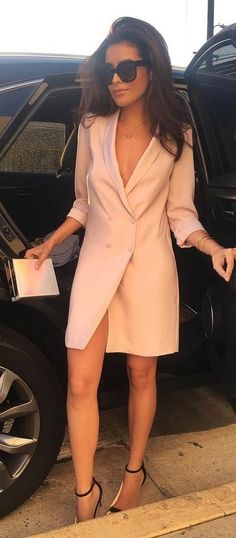 Nude Blazer Dress                                                                             Source
