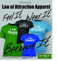 "This is SO SO COOL!!!!! Law of Attraction ""I AM"" shirts!!!!...you can even create your very own....... and they gave you/ us a promo code (LOA15) so you get 15% off.... PLUS FREE SHIPPING!!!!! http://www.lawofattractionapparel.com/"