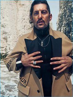 Tony Ward models a dandy fall coat from Italian fashion house Gucci.