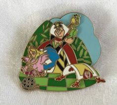 Disney-Trading-Pin-Alice-in-Wonderland-Queen-of-Hearts-LE-2000