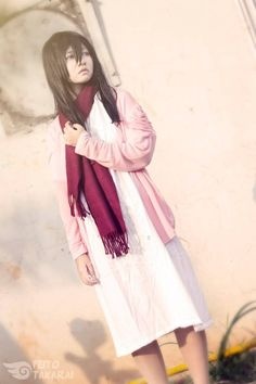 cosplay Young Mikasa Ackerman from Attack on Titan