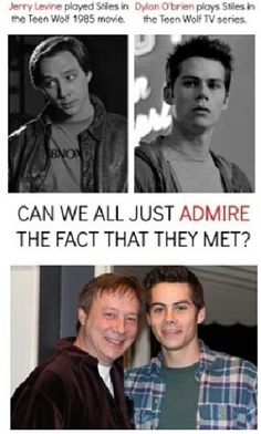 Stiles and Stiles ~~~ this post actually open my eyes that Teen Wolf was a movie first before a tv series 😅 Teen Wolf 1985, Teen Wolf Funny, Teen Wolf Memes, Teen Wolf Dylan, Teen Wolf Stiles, Teen Wolf Cast, Stydia, Sterek, Dylan O'brien