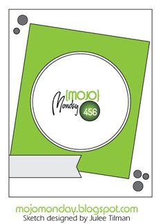 Mojo Monday 456 card sketch designed by Julee Tilman #mojomonday #vervestamps #cardsketches #sketchchallenge