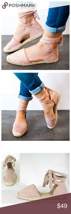 7f4710e42 Mauve lace up espadrille flats New dusty mauve faux suede lace up  espadrille flats. Fit is true to size. Black and clay colors coming soon Shoes  Espadrilles
