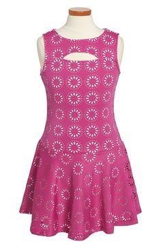 Nicole Miller Cutout Sleeveless Dress (Big Girls) available at #Nordstrom