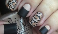 DDG TV: Matte Leopard Nail and Halfmoon Manicure Nail Tutorial - dropdeadgorgeousdaily.com