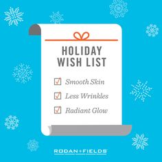 Great skin on your holiday wish list? You can get the ball rolling by committing to one new good skin habit a month.  Clinical products with 60 day money back guarantee: abbyk.myrandf.com