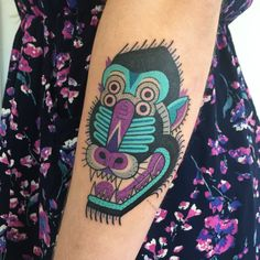 Winston the Whale - traditional inspired baboon tattoo @winstonthewhale