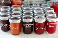 freezer jam   4 lbs. of Fresh Berries or fruit (strawberries, raspberries, blackberries, plums, peaches) 1.5 cups of Sugar (amount will vary according to ...