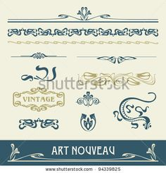 Typo art nouveau lettering pinterest art d co for Art minimaliste pdf