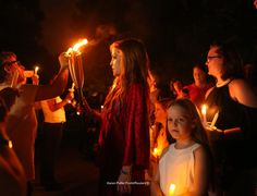 Lisa Marie Presley most graciously greeted her father's fans at Graceland, the home of Elvis Presley in Memphis, Tennessee on the 40th anniversary of his death. Fans lit their vigil candles as she thanked them for their devotion to her father. Full Photo Gallery @ www.karenpulferfocht.com  (Photo by Karen Pulfer Focht/Reuters©)