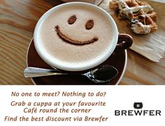 Sometimes going out alone for a cup of coffee is not a bad idea. It makes you think, it brings a smile. Find the perfect place to be alone along with offers. Find them on Brewfer.  #Food #OffrsOnFood Web: http://goo.gl/2zzgI4 Android App: https://goo.gl/Vqt616 IOS App: https://goo.gl/ZC26rp