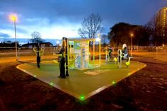 These outdoor gyms powered by participants are sooo cool!  We should have these in every park!   I think people would love to work out with these and kids especially!