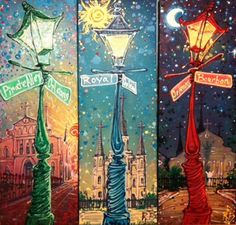 Items similar to NOLA Lamp Post Painting (made to order) on Etsy Ap Art Concentration, Canvas Art Projects, Louisiana Art, New Orleans Art, La Art, Painted Boards, Acrylic Art, Rock Art, Painting & Drawing