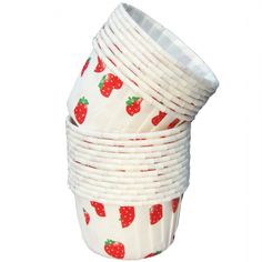 Strawberry Small Paper Squeeze Cups Set of 20