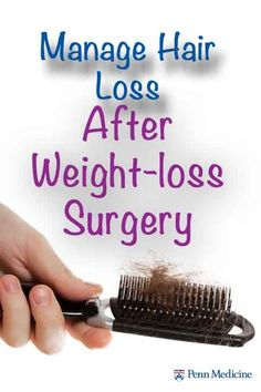 how to lose fat quick, losing belly fat, calorie counter to lose weight - Hair loss after weight-loss surgery can happen. Here are 5 ways to help minimize it. Gastric Sleeve Diet, Gastric Sleeve Surgery, Gastric Bypass Surgery, Bariatric Eating, Bariatric Recipes, Bariatric Surgery, Vsg Surgery, Diabetic Recipes, Vertical Sleeve Gastrectomy