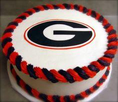 University of Georgia cake www.confectionperfectioncakes.com