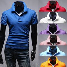 Solid Colored Men's Short Sleeved Polo | Sneak Outfitters