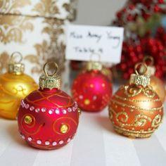 Mini Jeweled Ornament Place Card Holders