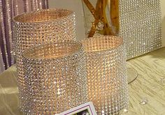 Beautiful Golden, Diamond Glistening - Candle Holders - Centerpiece _ iDesignEvents Studio 916.396.7067