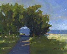 """Daily Paintworks - """"Escarpment View"""" - Original Fine Art for Sale - © Kent Brewer"""