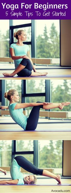 Beginning yoga can be intimidating, but yoga workouts are great for weightloss, fitness, and healthy living! These simple tips will give you some yoga inspiration to get your namaste on! Yoga for beginners | http://avocadu.com/yoga-for-beginners-5-simple-