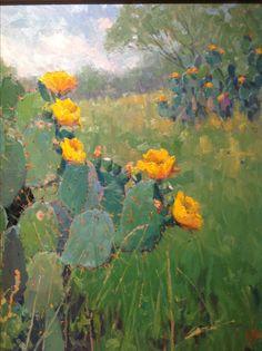 Noe Perez cactus painting