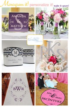 The Wedding Outlet: The perfect place to find monogrammed and personalized items for your wedding!