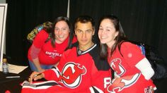Zubrus with two Devils fans!