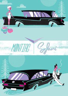 Create a Vintage, 50′s Style Auto Advertisement