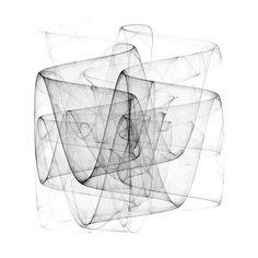 PDJ (01), 2009-11 | e-art.co, based on the simple Peter De Jong map equations: x' = sin(a * y) - cos(b * x)y' = sin(c * x) - cos(d * y)