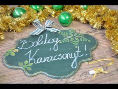 Karácsonyi krétatábla // Christmas chalkboard - YouTube