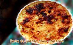 Torta de batata doce proteica com presunto e queijo #batatadoce #receitas #receitasproteicas #fitness