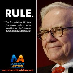 """""""First rule is not to lose. The second rule is not to forget the first rule"""". - Warren Buffet, Berkshire Hathaway  For more #inspirational #quotes follow @evancarmichael _____________________________  Double Tap and Tag someone that relates!#massiveactionblog #quotes"""