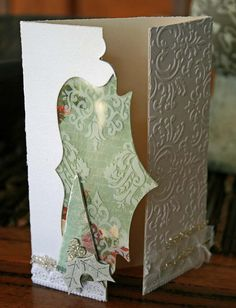 Tri Fold Christmas Card  created by Natalie Wolfe