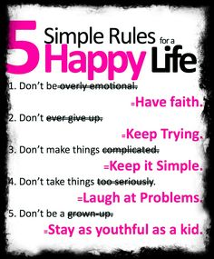 5 simple rules for happy life
