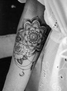 rose mandala tattoo
