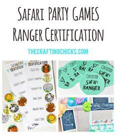 Safari Birthday Party Games... Ranger Certification! So much fun!