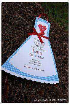 Alice in Wonderland, Raggedy Ann, Valentines Dress Apron Tea Pot Tea Party Invitation