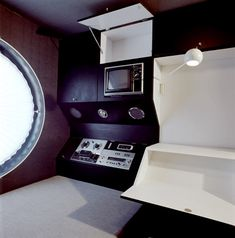 retro-futuristic interior design