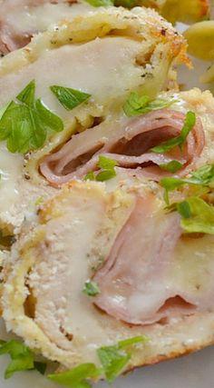 Chicken Cordon Bleu Rollups