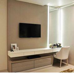 22 Trendy Living Room Ideas With Tv Dressers Bedroom Tv Wall, Home Decor Bedroom, Bedroom With Tv, Master Room, Couple Bedroom, Living Room Tv, House Design, Interior Design, Art Interiors