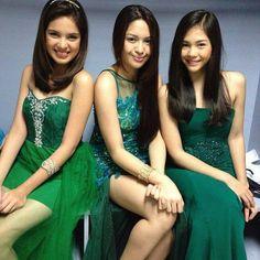 Michelle, Jane and Janella Beautiful Asian Women, Beautiful Celebrities, Star Magic, Liza Soberano, Prom Dresses, Formal Dresses, Filipina, Salvador, Asian Woman