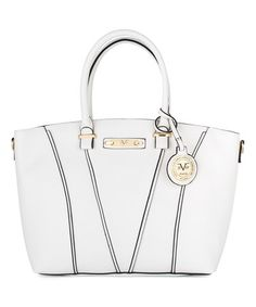 This Off White Mia Tote is perfect!  zulilyfinds My Passion 0383692a417a9
